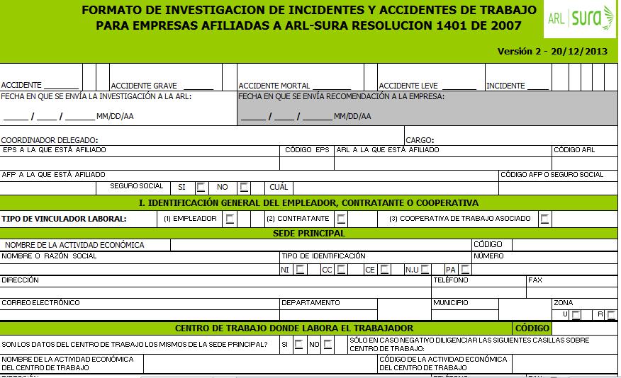 guía para elaborar informe de accidentes archivos - fullseguridad