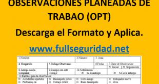 OPT Observaciones Planeadas de Trabajo