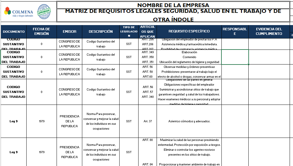 Formato de Requisitos Legales
