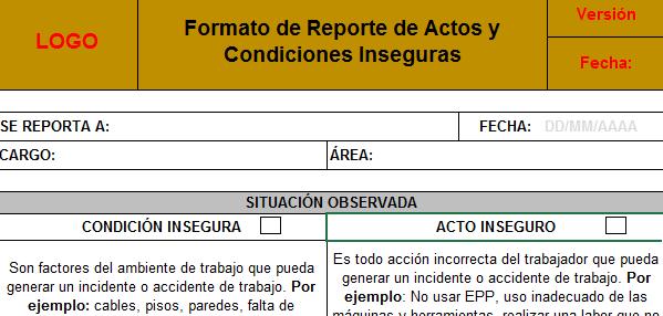 Reporte de Actos y Condiciones