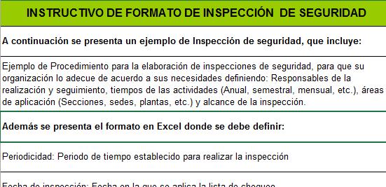 instructivo de Inspección de Seguridad